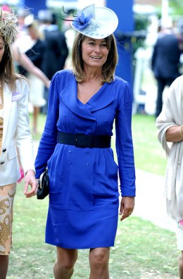 Carole Middleton and her blue dress