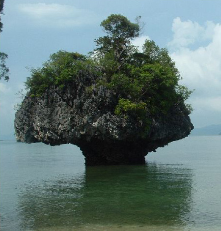 Weird Rock at Phang Nga Bay