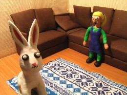 Easter Bunny & Izzy
