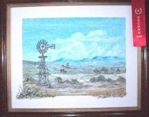 Mother's windmill paintings were always favorites with artistic admirers.  I apologize for the online bad coloring - it is actually a beautifully rendered scene.