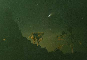 My Joshua Tree photo of Comet Hale-Bopp.