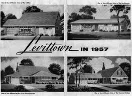 Early tract houses of the 50's