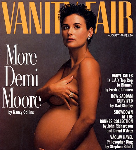 Demi  Moore on the cover of Vanity Fair