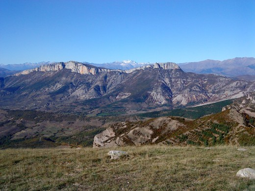 Looking north towards the border with France. You can just make out the first snow on the distant peaks above 3,000m.