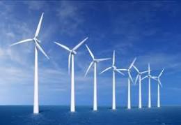 Sea wind turbines