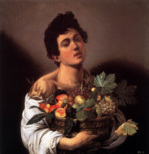 Boy with a Basket of Fruit (Figure 1)