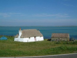 Struan Cottage overlooking the long white beach at Vallay Strand is available to rent for self-catering vacations.  Contact drdmacaulay@hotmail.com