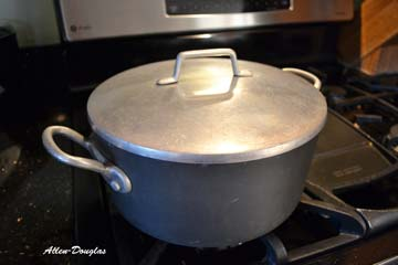 Allow the eggs to keep cooking while covered in the pot