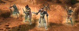 Confrontation Characters - Lanwys, Lothaine, Darius and Zelia