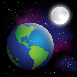 Does the moon affect the motions of the Earth?