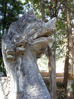 Ancient naga sculpture of U Mong Buddhist Temple