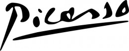 Picasso's signature was a distinct part of his brand.