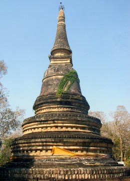 Ancient chedi of U Mong Temple, Chiang Mai, Thailand