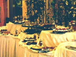 """Beware, all ,who approach the dessert table."""