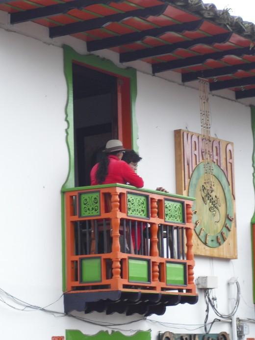 Balcony coffee shop