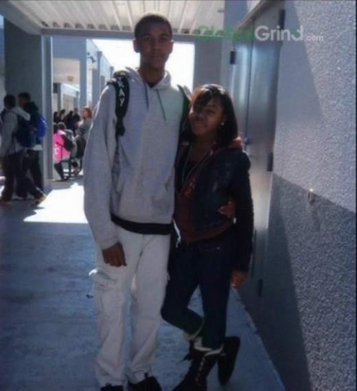 Trayvon and his girlfriend