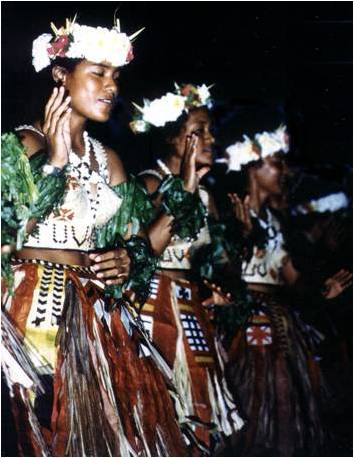 Traditional Pacific dancers
