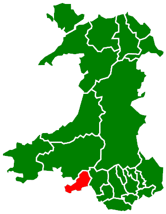 Map location of Swansea, Wales