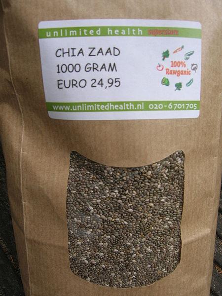 Bag of chia seeds