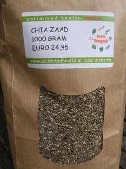 Bag of chia seeds