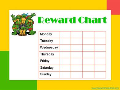 You can create this chart then save it. Each time you need a new one add one of your childs fav characters from pics on the web or a pic of them.