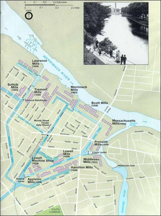Lowell Canal System 1850