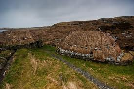 A Lewis long-house much like the Hebridean one above. Lewis took up the bulk of the northernmost of the Hebridean islands, with Harris 'hanging on for dear life' at the southern end of the same large island