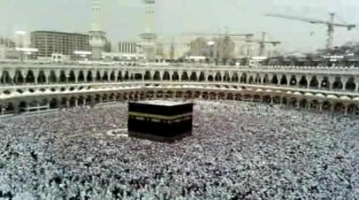 The Kaaba during Hajj