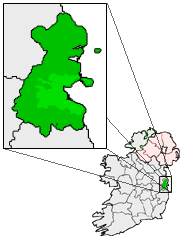 Map location of Dublin, Ireland