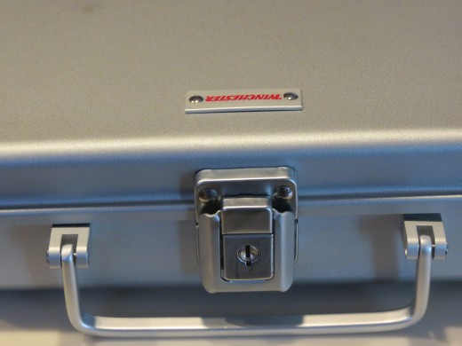 Lock box used to store weapons in our combination fireproof safe.