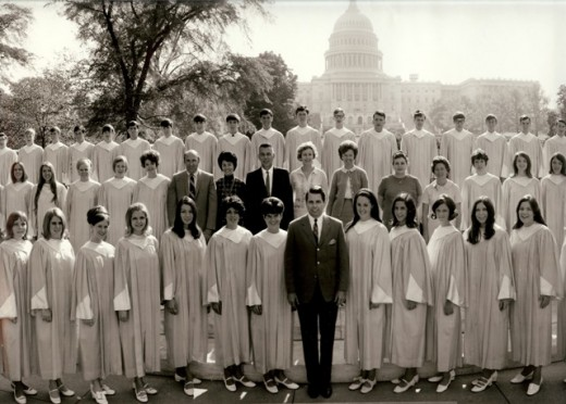 HS Concert Chorus in Washington, D.C.. That's me, front row 4th from the left.