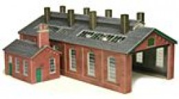 ...The loco shed. Add more than one, either sideways for four-track or lengthwise for an extended shed