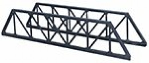 These are the Peco Truss Girder bridge sides - you can also buy Peco Plate Girder Bridge sides - or Wills' Vari-girder  kit(s) to make any length girder bridge you need