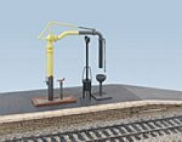 In the Ratio range is this GWR-style water crane with 'fire-devil'. Regional variations are available from other sources as white metal castings (such as Mike's Models NER water cranes seen on the Thoraldby layout)