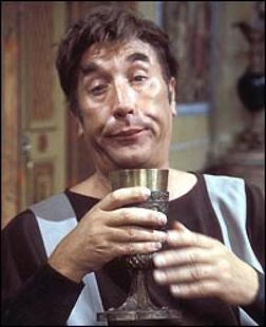 Frankie as Lurkio in 'Up Pompei'