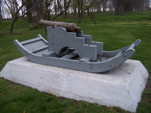 A cannon such as was used in the war.
