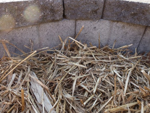 Mulching around raised beds will retains moisture and supresses weeds.