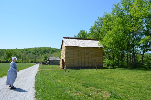 Photo of heading toward Grist Mill and General Store, etc.