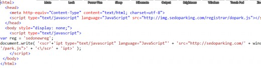 The actual screenshot of the Big E HTML .