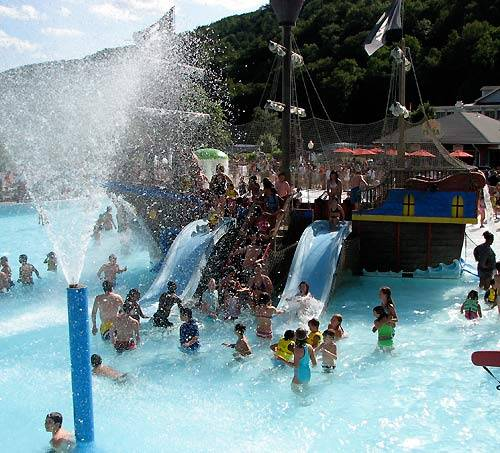 Splash harbor water park is inside the lake compounce amusement park