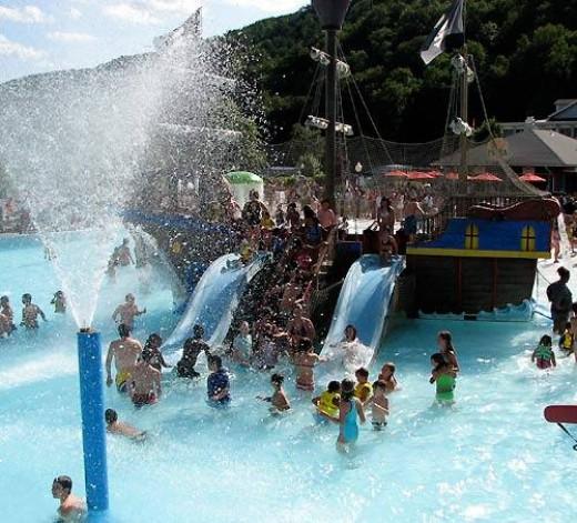 Splash harbor water park is inside the lake compounce amusement park