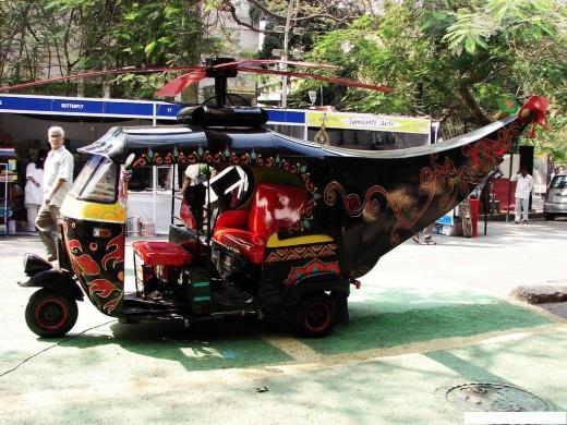 Auto rickshaw with a Tail