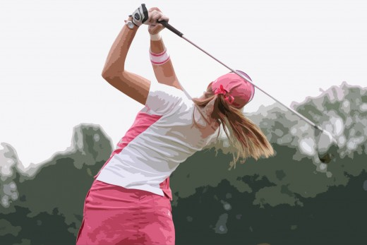 Ladies can play golf too!