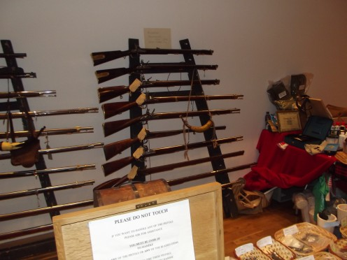 Rifles on a rack