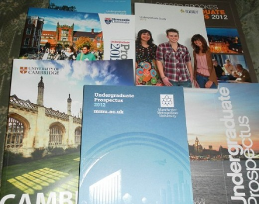 You can still order hard copies of university prospectuses, but the information in them is also available on line and should be more up to date.