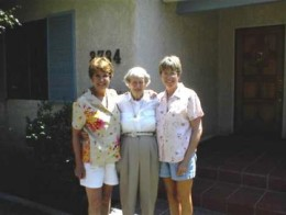 Mom with her two nieces after her sister's funeral.