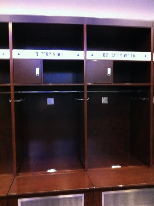 Romo and Witten lockers