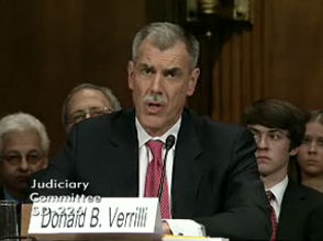 Solicitor General Donald Verrilli, charged with arguing the White House side of the argument