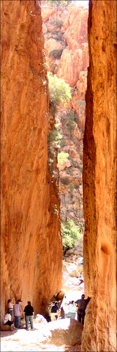 Standley Chasm honours Mrs Ida Standley who became the first school teacher in Alice Springs.