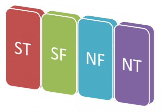 Columns of the Myers Briggs Type Table
